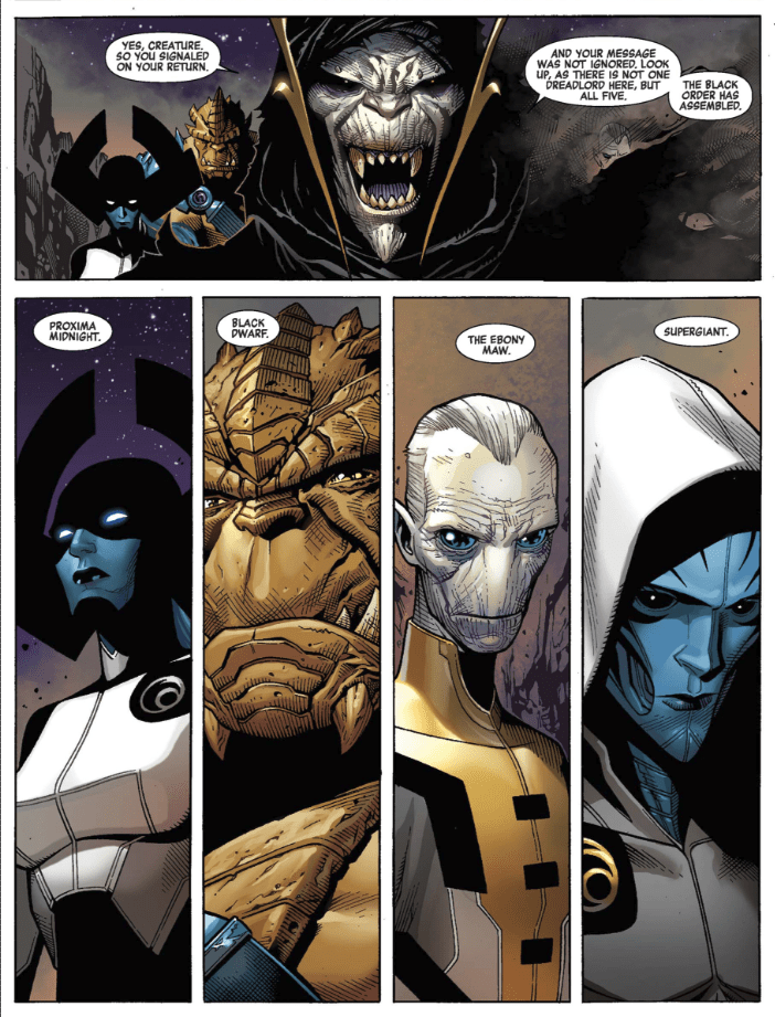 The Black Order. Many of the characters known as Thanos' Children from Infinity War.