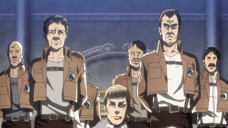 Military Police during Erwin's interrogation in ATTACK ON TITAN