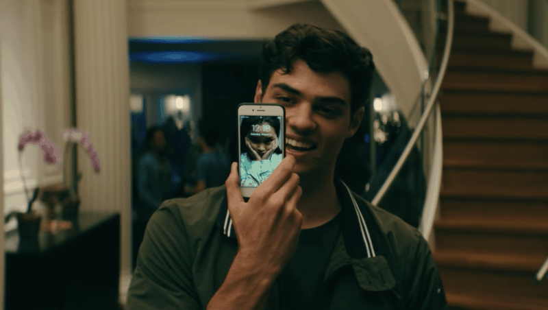 Peter shows off his Lara Jean screensaver in TO ALL THE BOYS I'VE LOVED BEFORE.