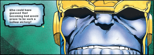 Thanos crying.