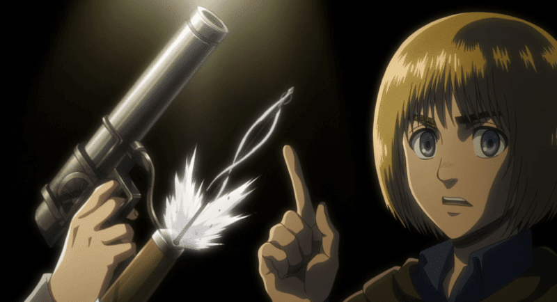 Armin during a flashback in ATTACK ON TITAN