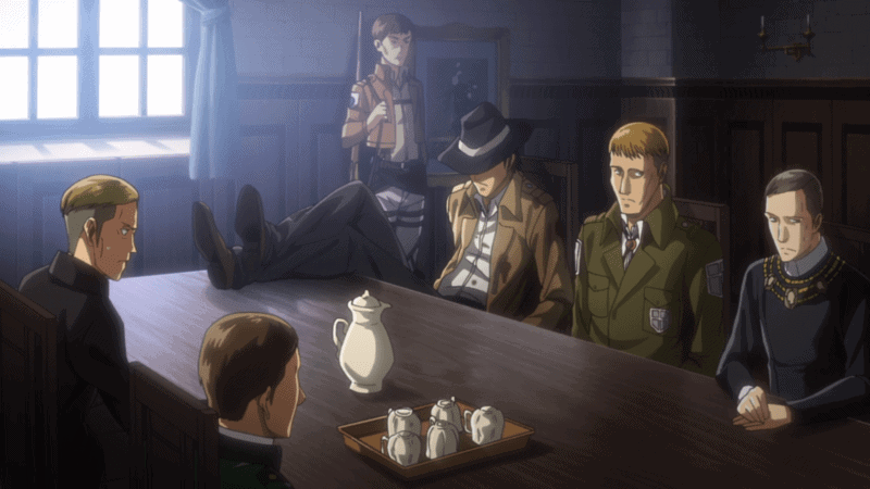 Levi growing in status in an ATTACK ON TITAN flashback.