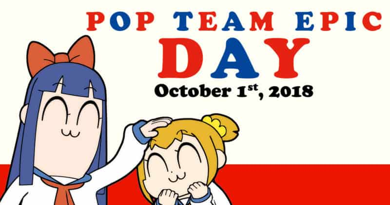 POP TEAM EPIC Day announcement