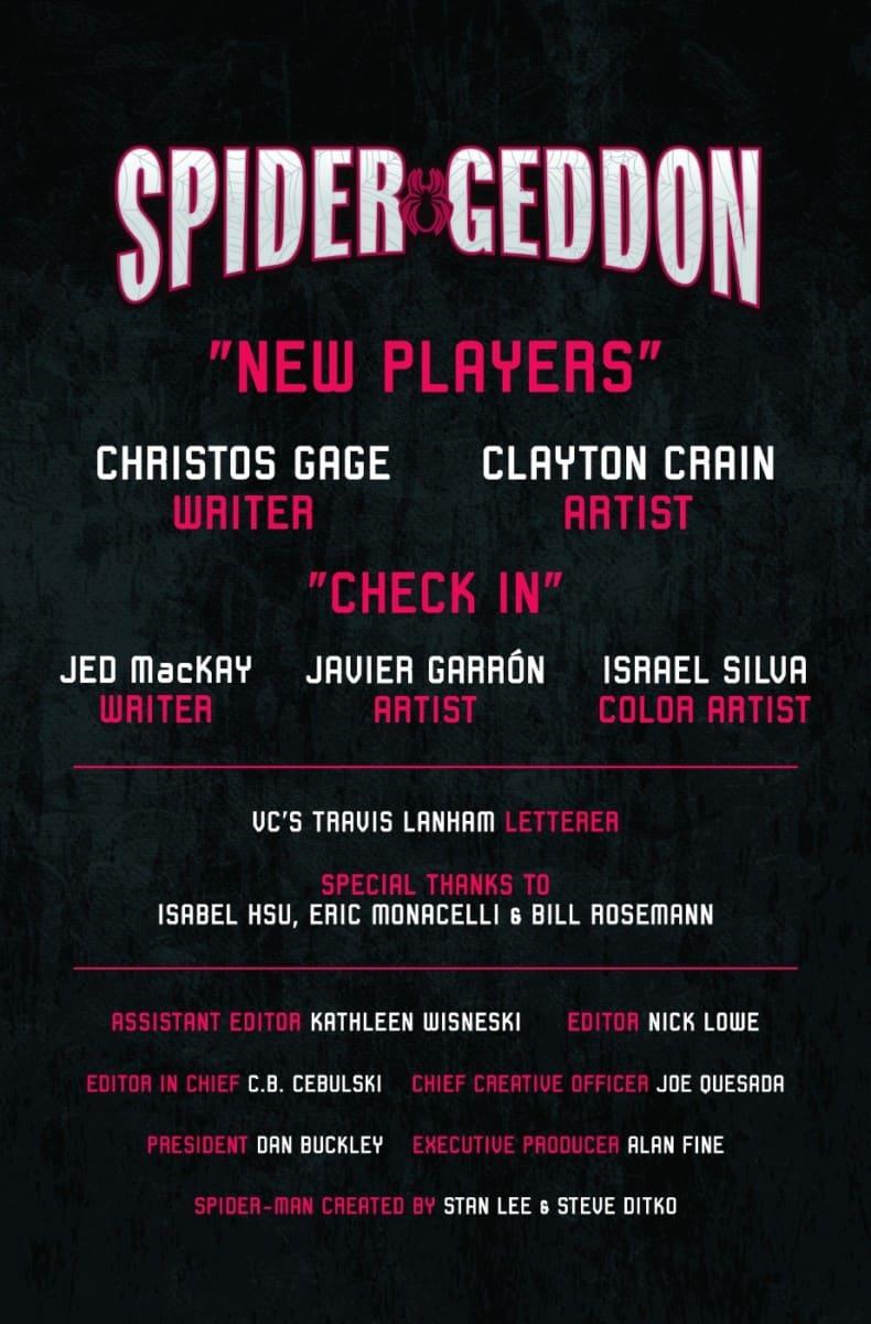 SPIDER-GEDDON #0 Preview