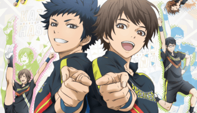 The main characters of the CHEER BOYS!! anime, Kazu and Haru