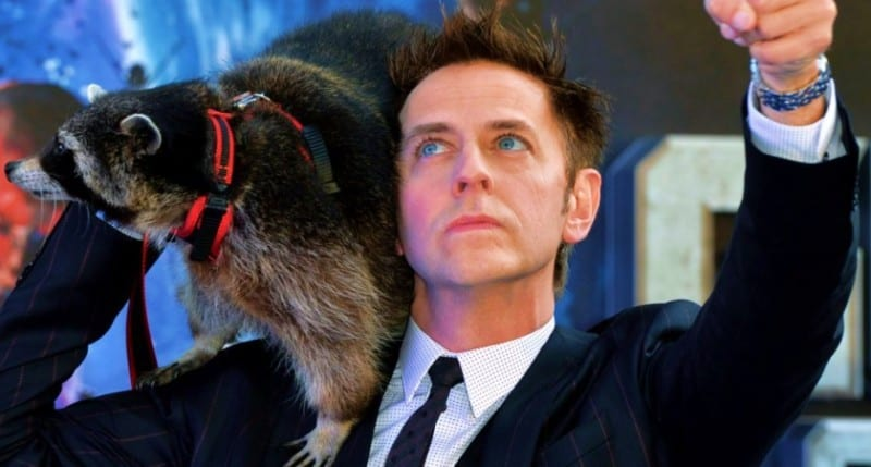 James Gunn w/raccoon