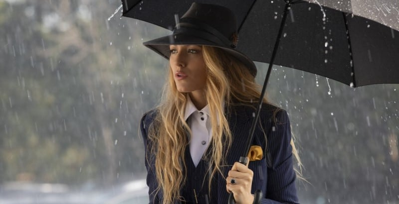 A SIMPLE FAVOR: Emily and her umbrella