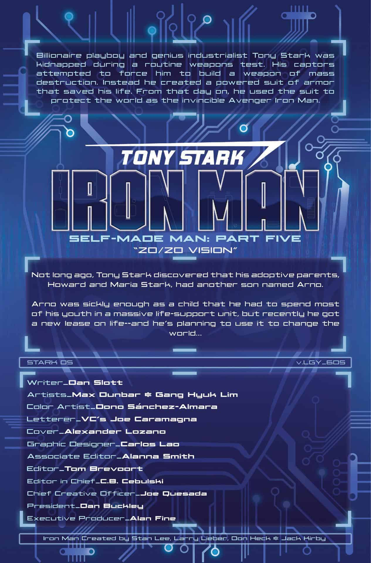 tony stark iron man #5