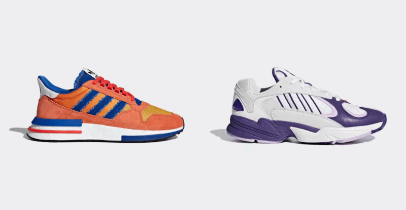 Goku and Frieza's DRAGON BALL Z inspired Adidas sneakers.