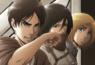 Eren, Mikasa, and Armin of ATTACK ON TITAN