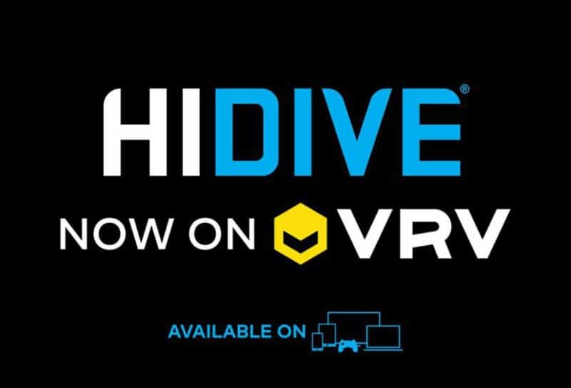 HIDIVE displayed above the VRV logo.
