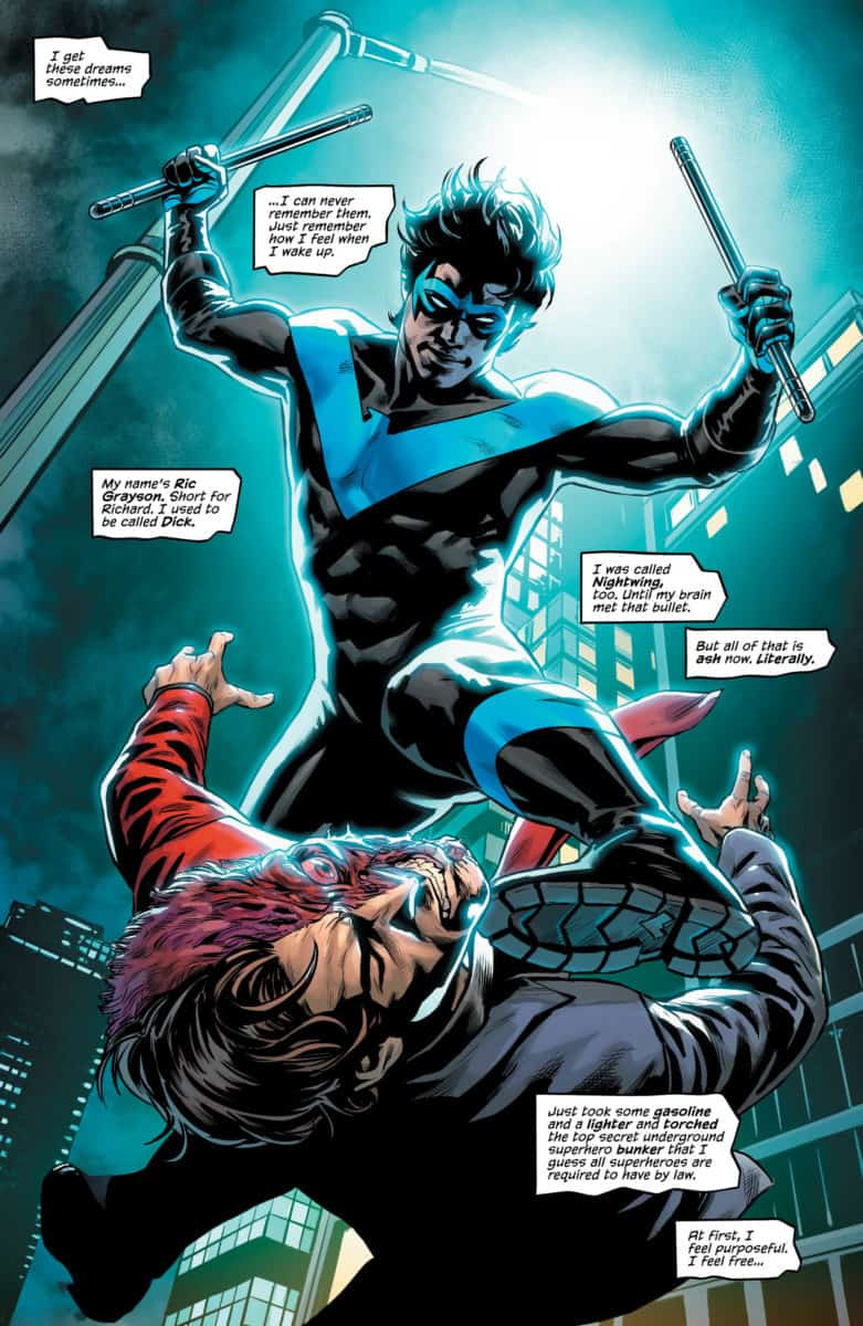 NIGHTWING #51 Page 5. Image Courtesy of DC Comics.