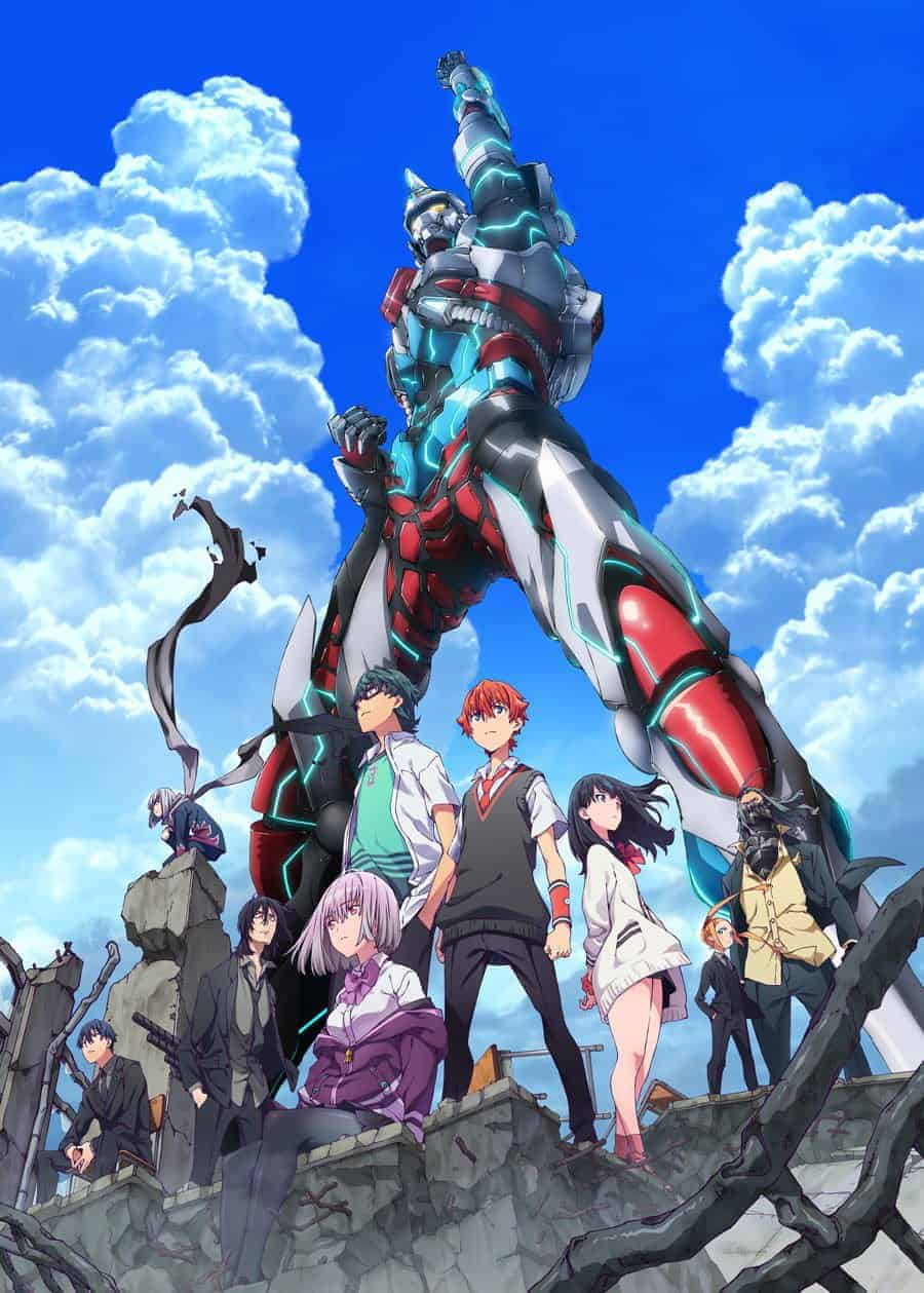 SSSS GRIDMAN, a fall anime, key visual featuring the main cast
