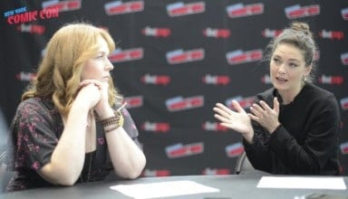 MAN IN THE HIGH CASTLE stars Alexa Davalos (Juliana Crane) and Chelah Horsdal (Helen Smith) sat down with us at New York Comic Con this 2018.