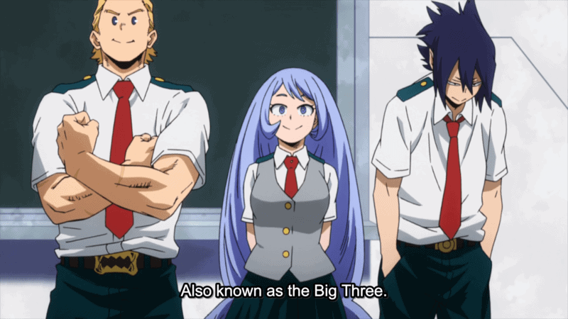 MY HERO ACADEMIA top 3 students introducing themselves to Class 1-A