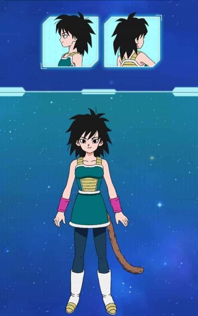 Gine's character design in DRAGON BALL SUPER: BROLY