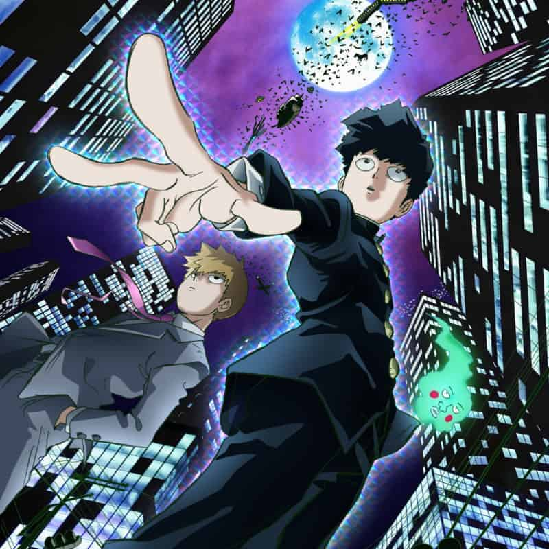 MOB PSYCHO 100 main character Mob and his mentor, Reigen