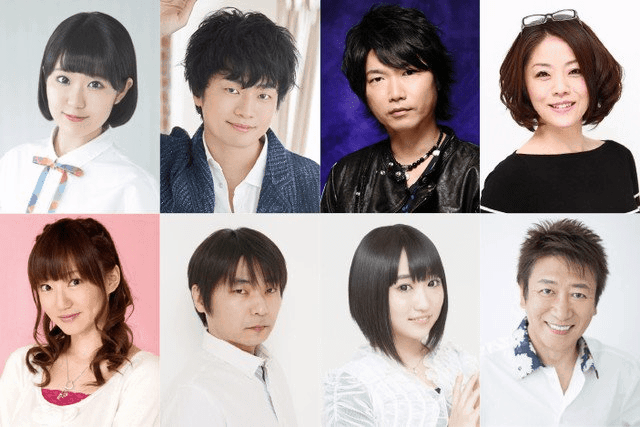 A collection of head shots from the cast of upcoming anime 7SEEDS.