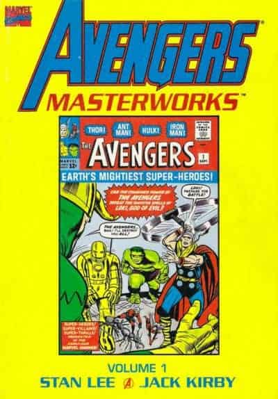 Stan Lee: Cover to Avengers Masterworks Volume 01.
