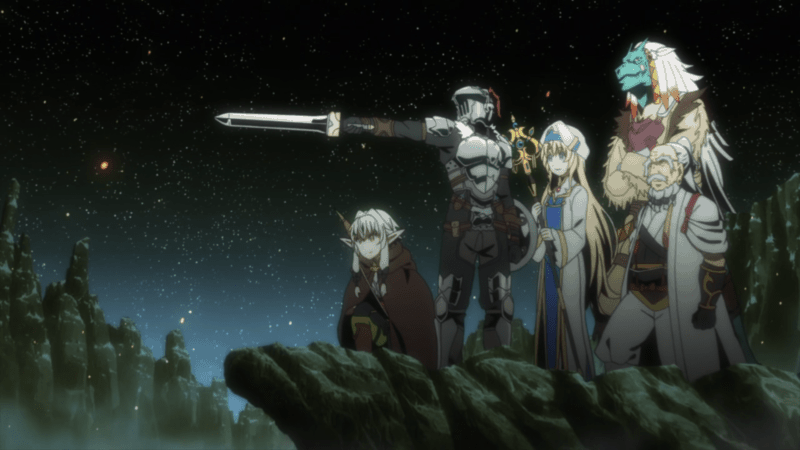 The main cast of GOBLIN SLAYER