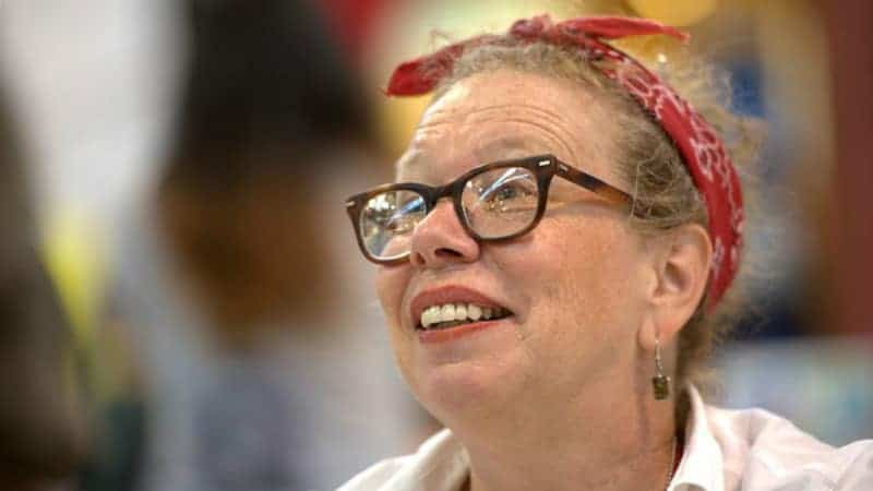 Lynda Barry photo by Guillaume Paumier, CC-BY.