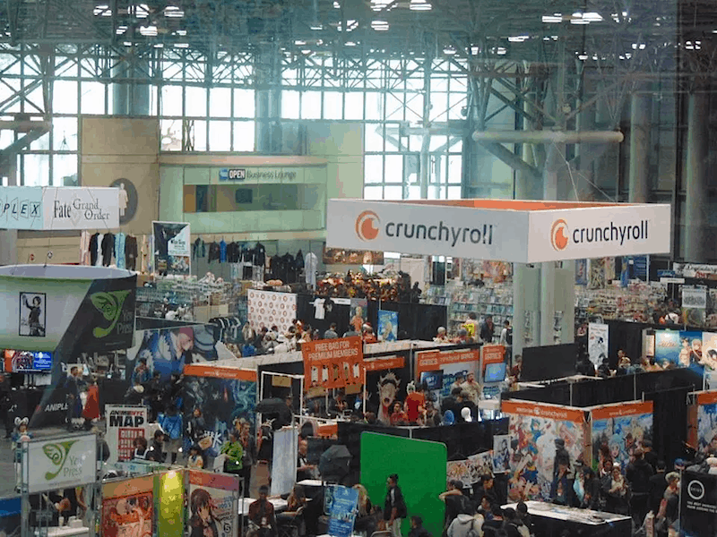A photo of the convention hall from Anime NYC 2017.