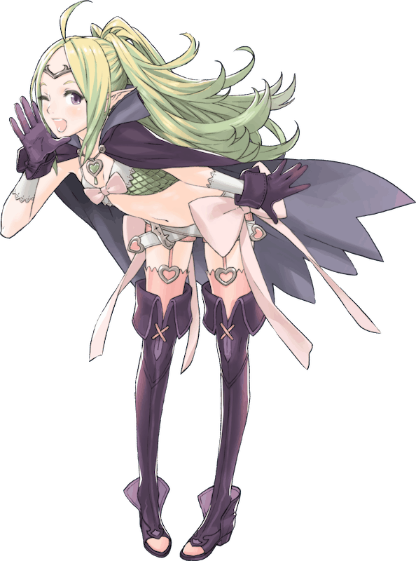 A full-screen shot of Nowi from FIRE EMBLEM, appearing as she did in FIRE EMBLEM: AWAKENING.