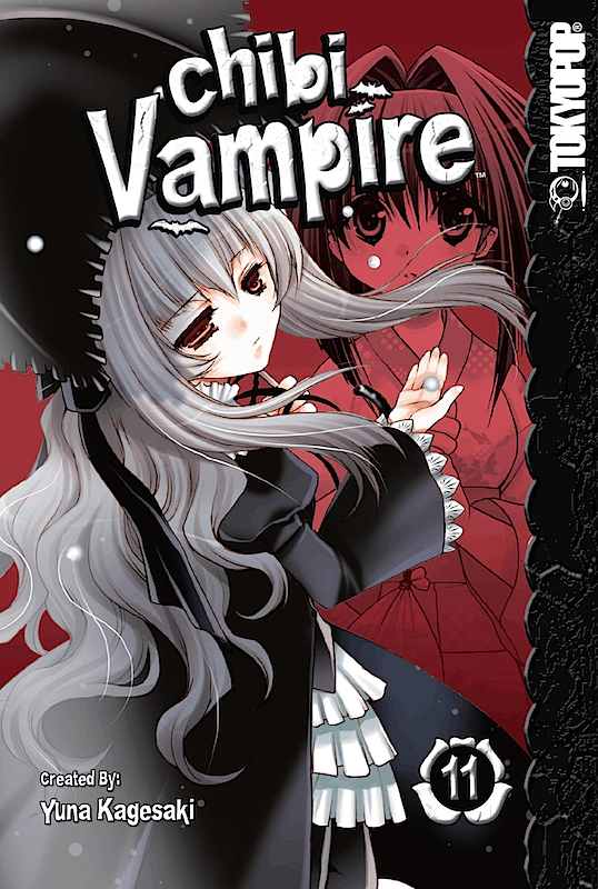 The front cover of CHIBI VAMPIRE Vol. 11, featuring Anju Maaka, a young vampire girl dressed in lolita fashion.