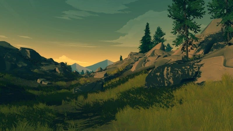 A small moutain valley in FIREWATCH