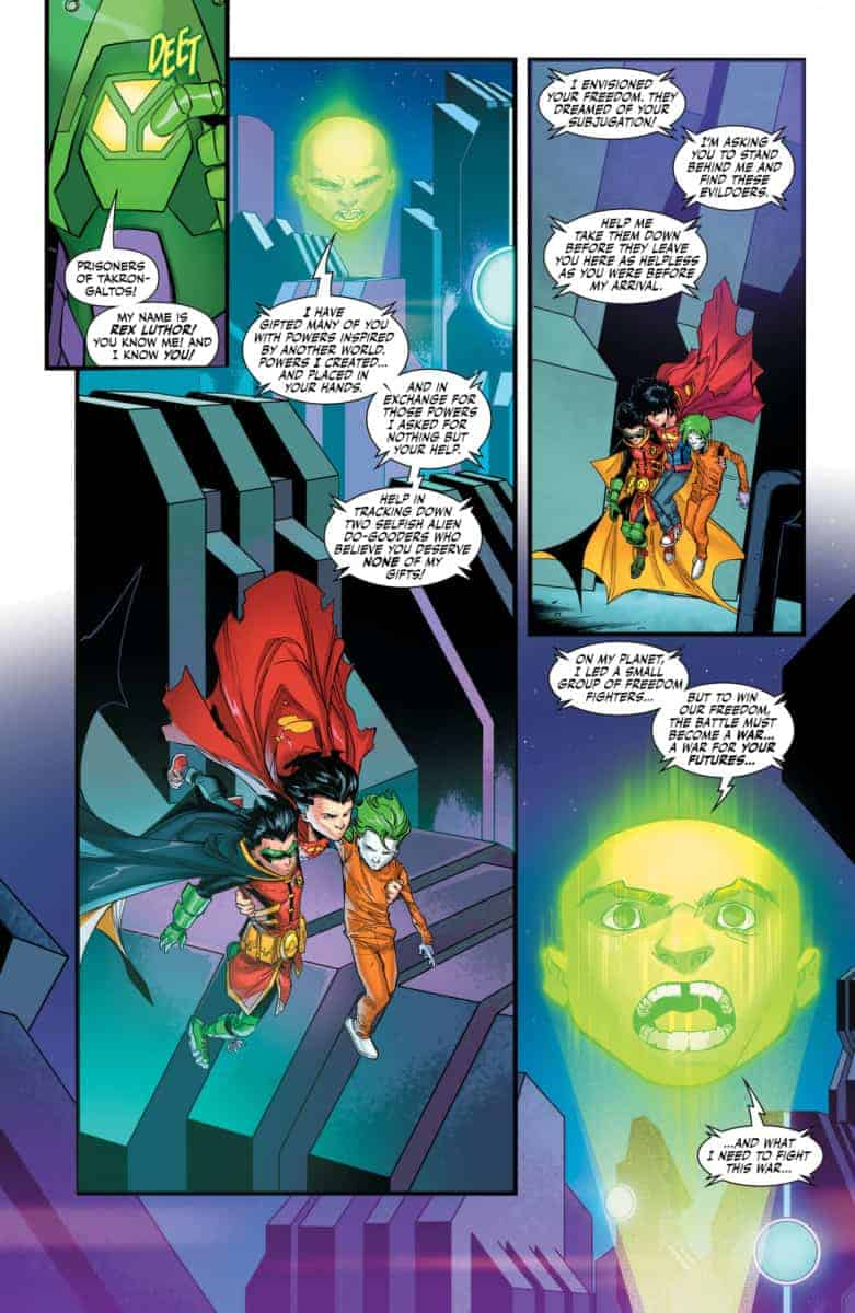 ADVENTURES OF THE SUPER SONS #8 Page 3. Image Courtesy of DC entertainment.