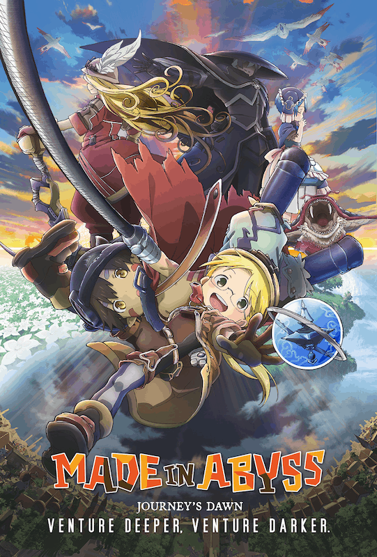 The full poster for MADE IN ABYSS: JOURNEY'S DAWN.