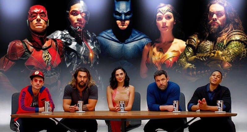 The actors of Justice League