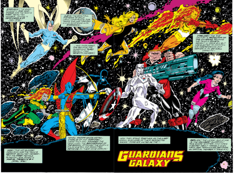 Full Line Up Of Original Guardians