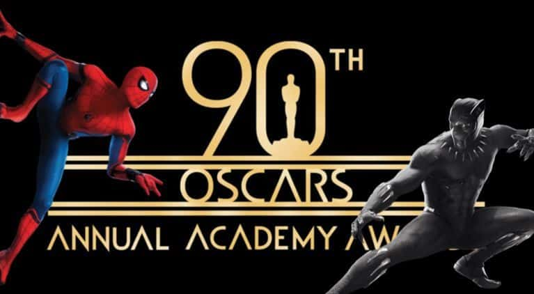 Spider-Man and Black Panther at the Oscars