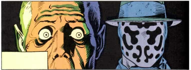 Rorschach's face