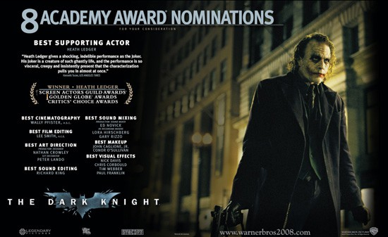 The Dark Knight awards
