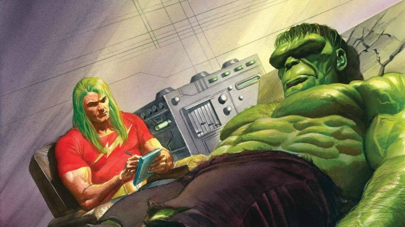 Hulk getting some well deserved therapy, as he faces the Immortality Problem