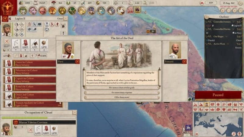 IMPERATOR ROME ART OF THE DEAL