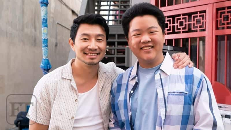 Simu Liu on set of Fresh Of The Boat