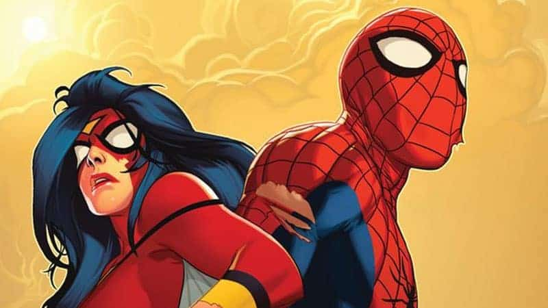 Spider-Womand and Spider-Man. No Relation