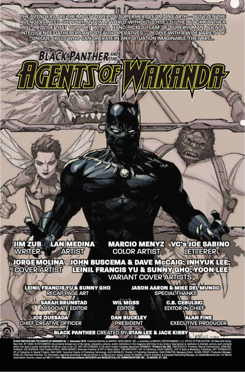 BLACK PANTHER AND THE AGENTS OF WAKANDA #1 page 2
