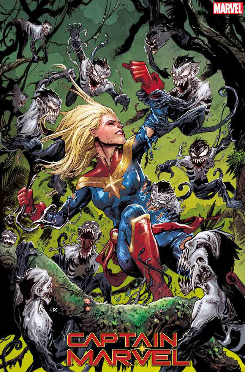 Captain Marvel variant cover Venom Island