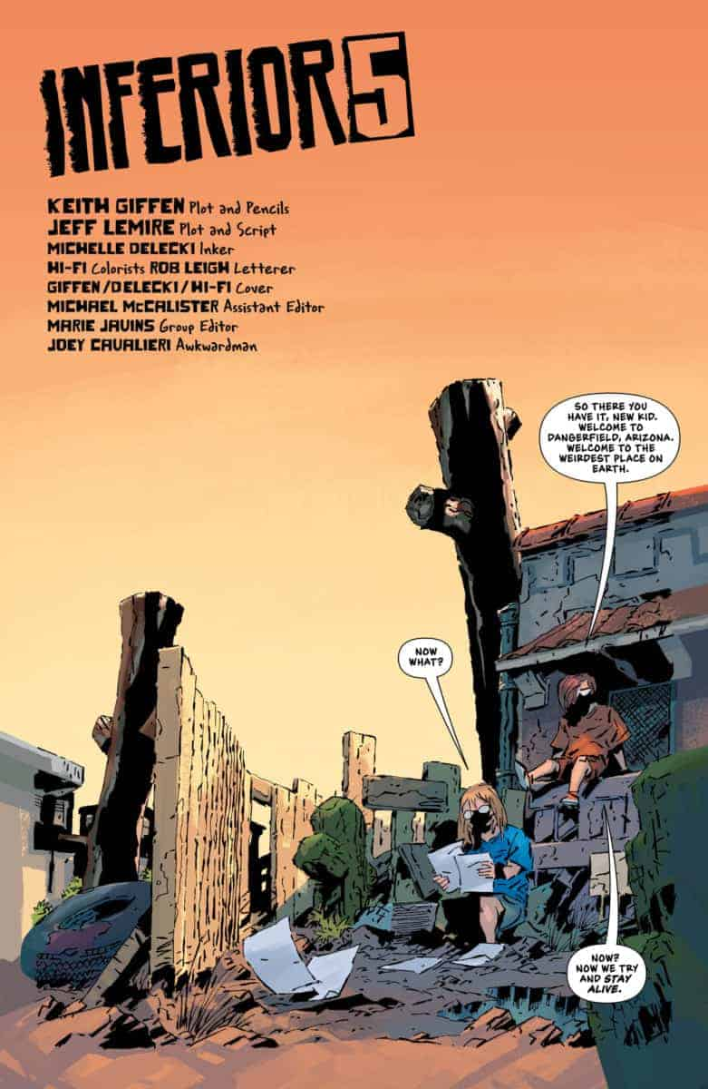 Inferior Five jeff lemire